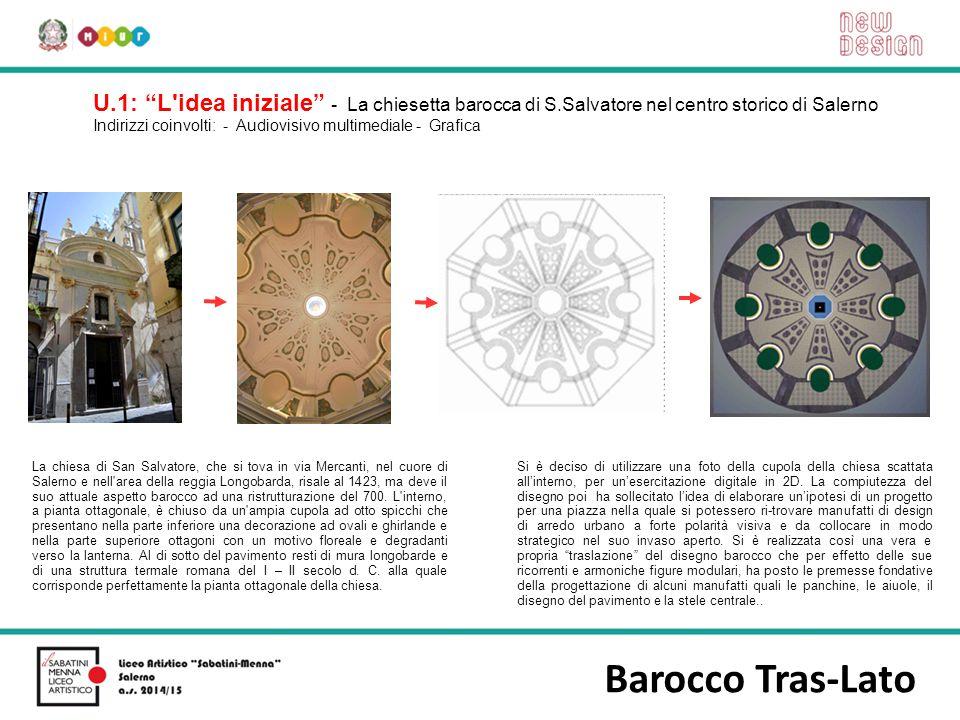 """Barocco Tras-Lato U.1: """"L'idea iniziale"""" - La chiesetta barocca di S.Salvatore nel centro storico di Salerno Indirizzi coinvolti: - Audiovisivo multim"""
