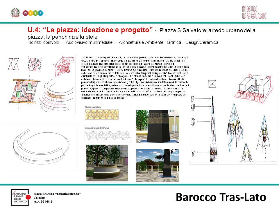 """Barocco Tras-Lato U.4: """"La piazza: ideazione e progetto"""" - Piazza S.Salvatore: arredo urbano della piazza, la panchina e la stele Indirizzi coinvolti"""