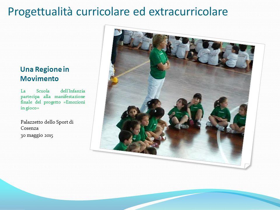 Una Regione in Movimento La Scuola dell'Infanzia partecipa alla manifestazione finale del progetto «Emozioni in gioco» Palazzetto dello Sport di Cosen