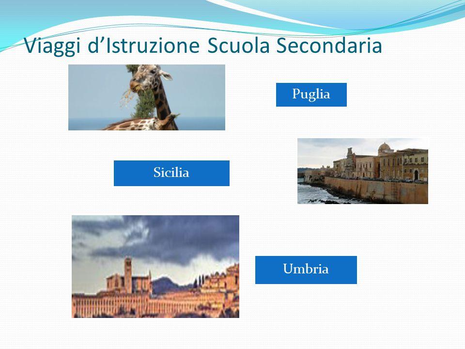 Viaggi d'Istruzione Scuola Secondaria Puglia Sicilia Umbria