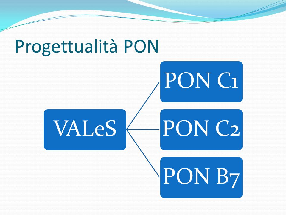 Progettualità PON VALeSPON C1PON C2PON B7