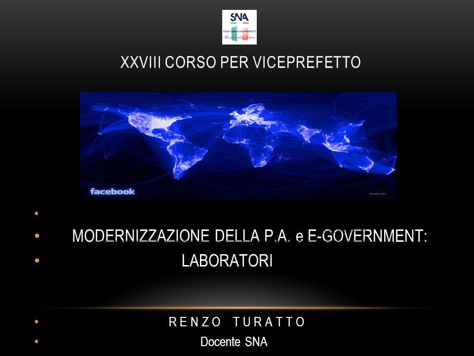 XXVIII CORSO PER VICEPREFETTO MODERNIZZAZIONE DELLA P.A.