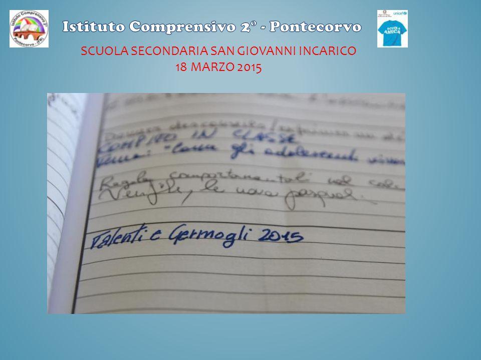 SCUOLA SECONDARIA SAN GIOVANNI INCARICO 18 MARZO 2015