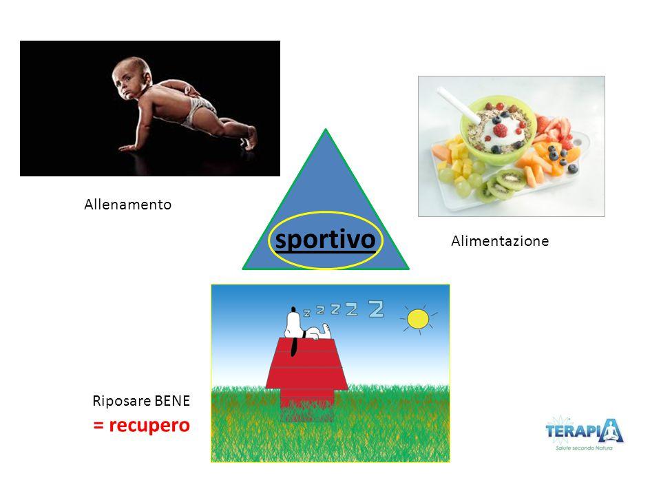 Riposare BENE = recupero Alimentazione Allenamento sportivo