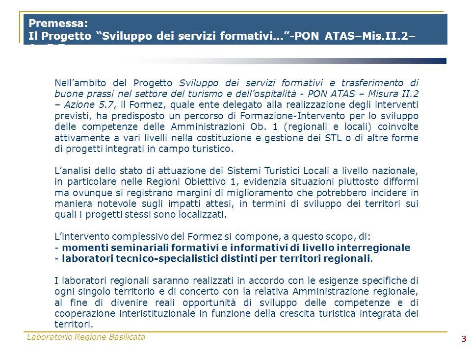 Laboratorio Regione Basilicata 4 Contesto Normativa di riferimento