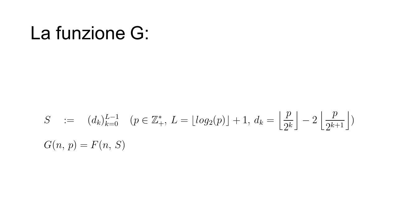 La funzione G: