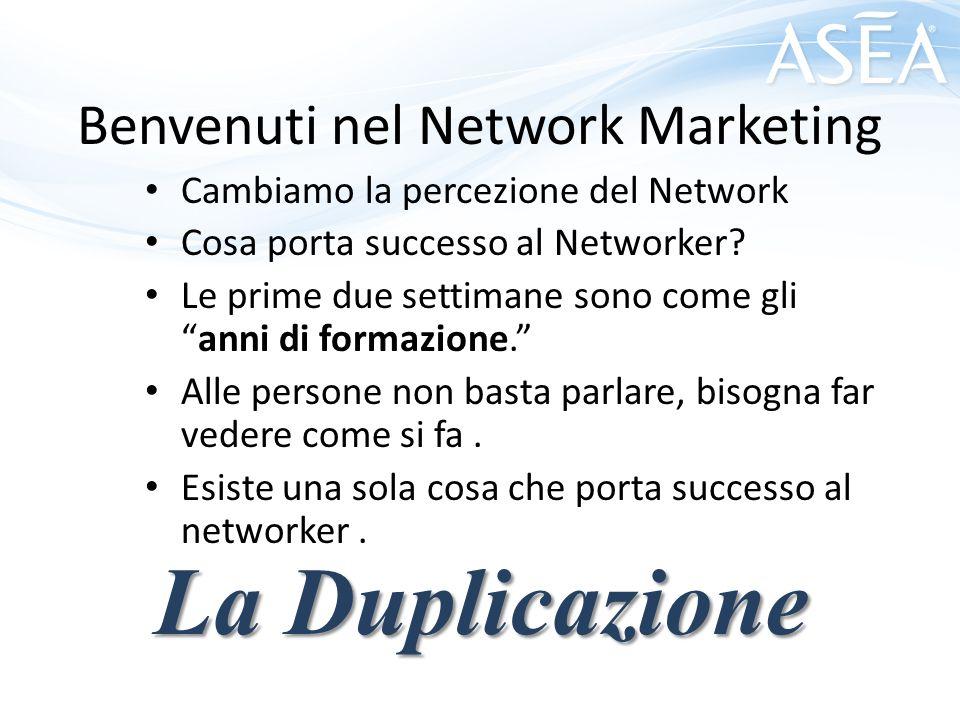 Benvenuti nel Network Marketing Cambiamo la percezione del Network Cosa porta successo al Networker.
