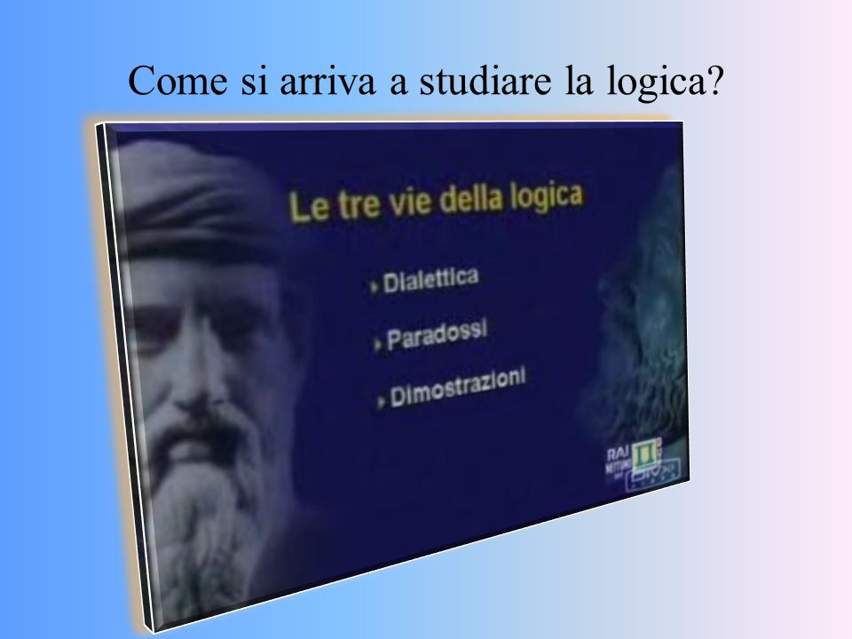 La Dialettica È stata iniziata in Occidente dalla Scuola greca dei Sofisti (Protagora e Gorgia).