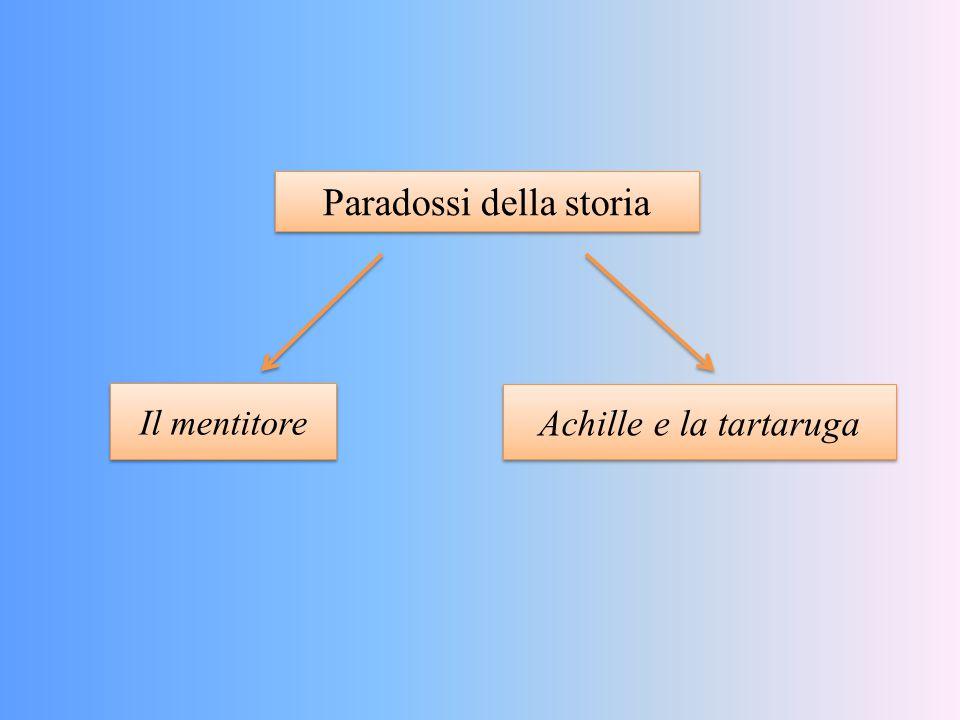 Paradossi della storia Il mentitore Achille e la tartaruga