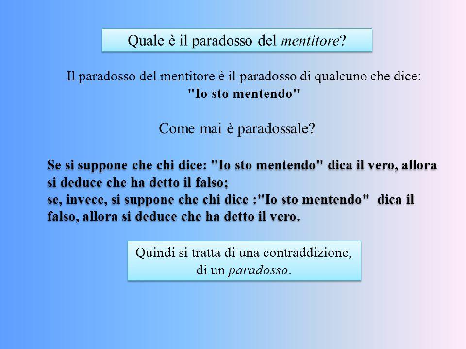 Quale è il paradosso del mentitore? Il paradosso del mentitore è il paradosso di qualcuno che dice: