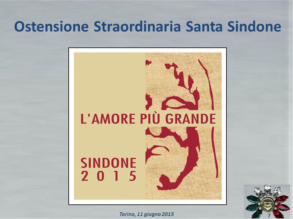 Ostensione Straordinaria Santa Sindone 7 Torino, 11 giugno 2015