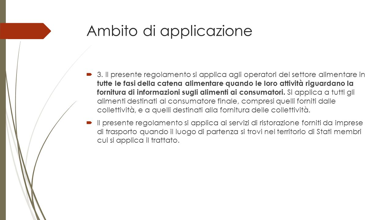 Attuale situazione normativa  Regolamento 1169/2011  Decreto Legislativo 109/92 (?)  Norme specifiche  Sanzioni (?)