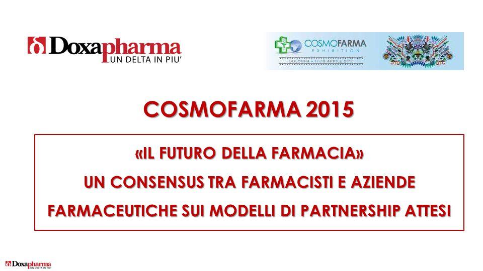 COSMOFARMA 2015 «IL FUTURO DELLA FARMACIA» UN CONSENSUS TRA FARMACISTI E AZIENDE FARMACEUTICHE SUI MODELLI DI PARTNERSHIP ATTESI