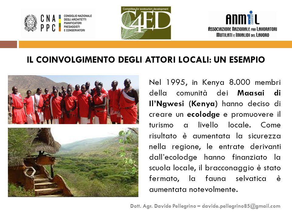 Nel 1995, in Kenya 8.000 membri della comunità dei Maasai di Il'Ngwesi (Kenya) hanno deciso di creare un ecolodge e promuovere il turismo a livello locale.