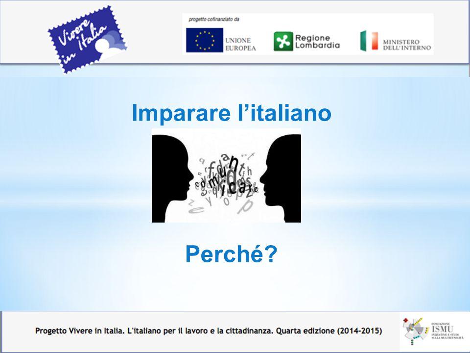 Imparare l'italiano Perché?