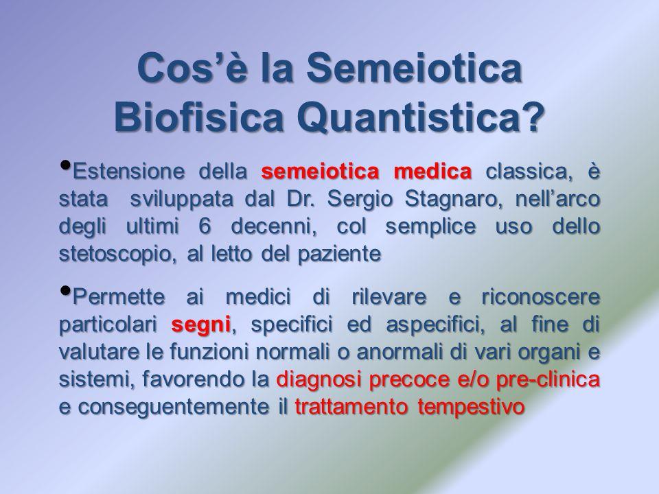 Cos'è la Semeiotica Biofisica Quantistica? Estensione della semeiotica medica classica, è stata sviluppata dal Dr. Sergio Stagnaro, nell'arco degli ul