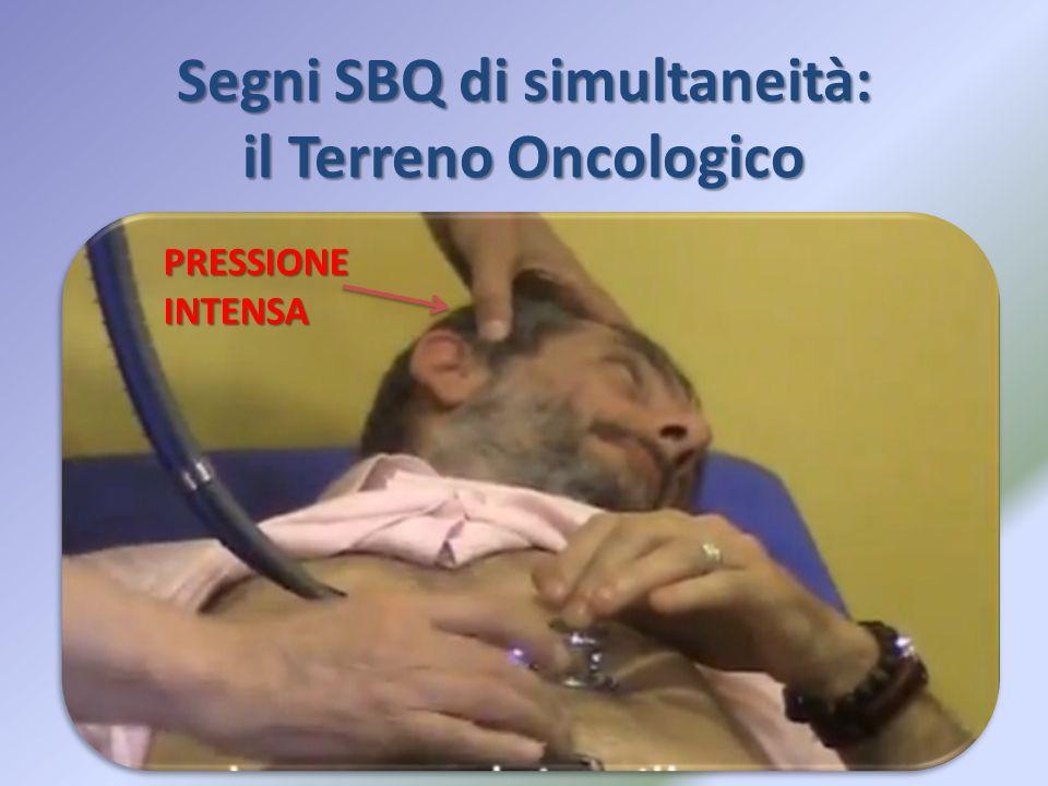 Segni SBQ di simultaneità: il Terreno Oncologico PRESSIONE INTENSA