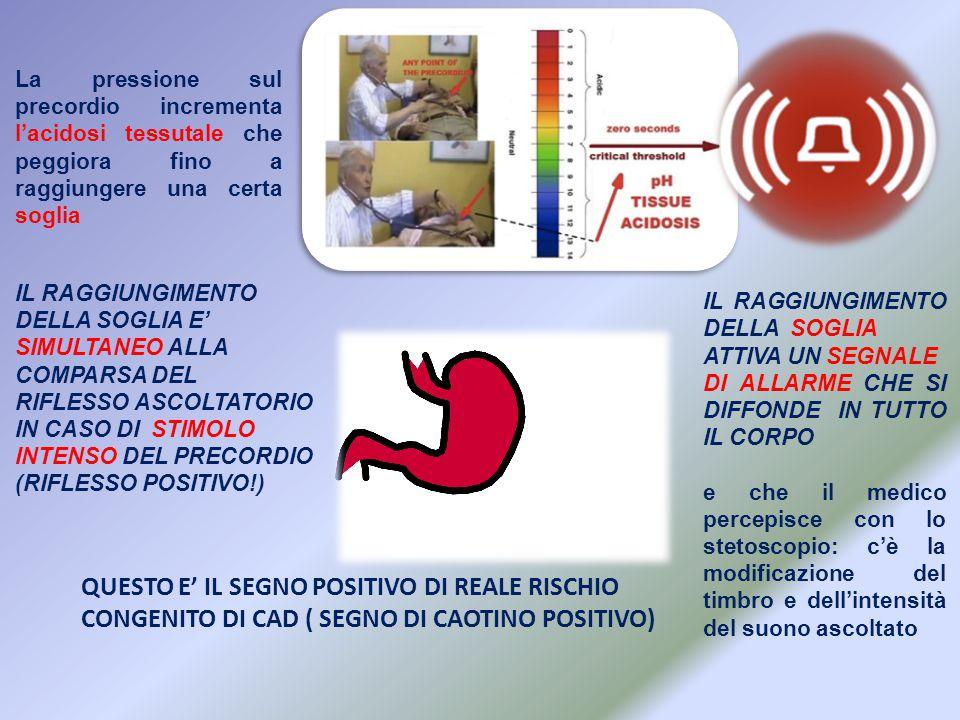 IL RAGGIUNGIMENTO DELLA SOGLIA ATTIVA UN SEGNALE DI ALLARME CHE SI DIFFONDE IN TUTTO IL CORPO e che il medico percepisce con lo stetoscopio: c'è la mo