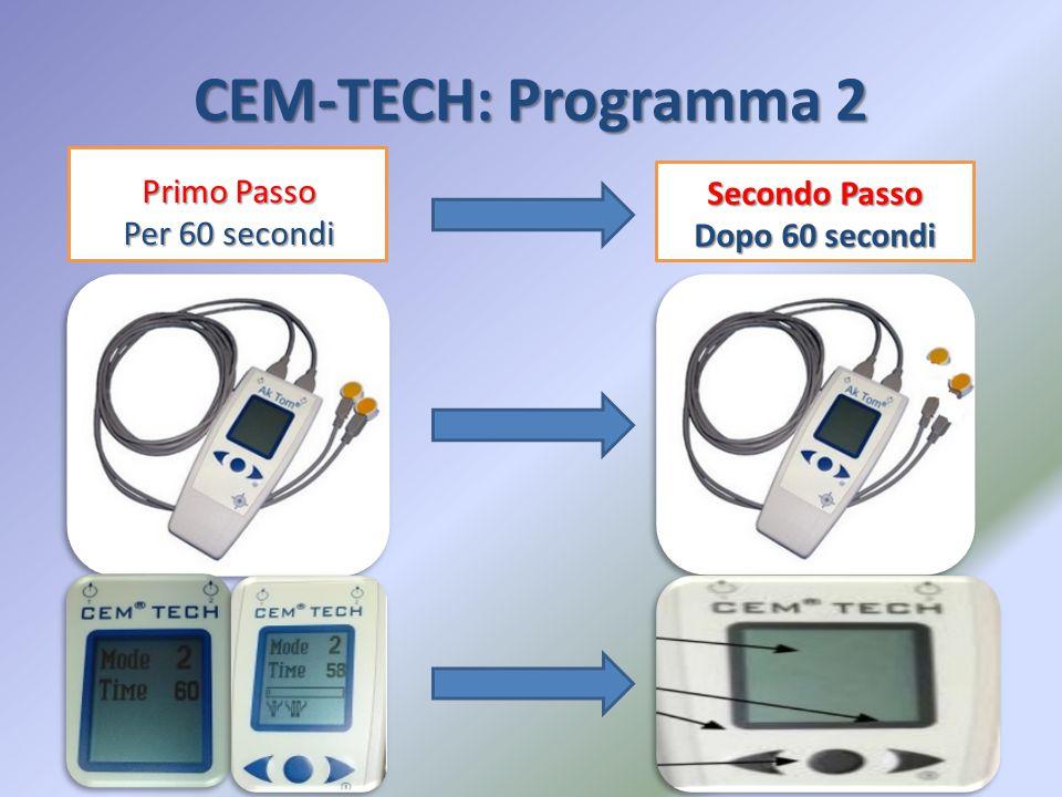CEM-TECH: Programma 2 Primo Passo Per 60 secondi Secondo Passo Dopo 60 secondi