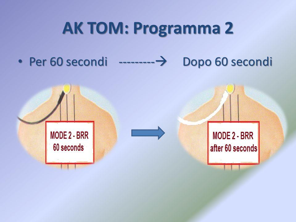 AK TOM: Programma 2 Per 60 secondi ---------  Dopo 60 secondi Per 60 secondi ---------  Dopo 60 secondi