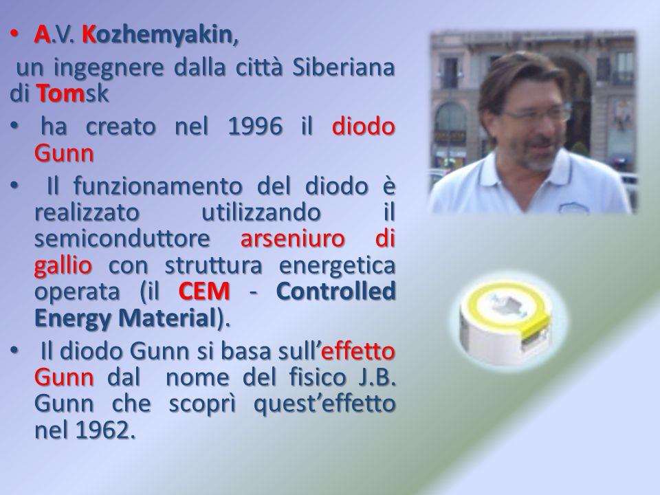 A.V. Kozhemyakin, A.V. Kozhemyakin, un ingegnere dalla città Siberiana di Tomsk un ingegnere dalla città Siberiana di Tomsk ha creato nel 1996 il diod