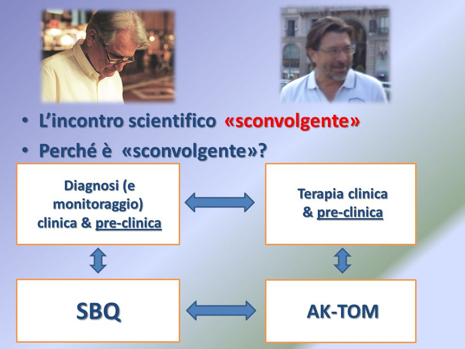 L'incontro scientifico «sconvolgente» L'incontro scientifico «sconvolgente» Perché è «sconvolgente».