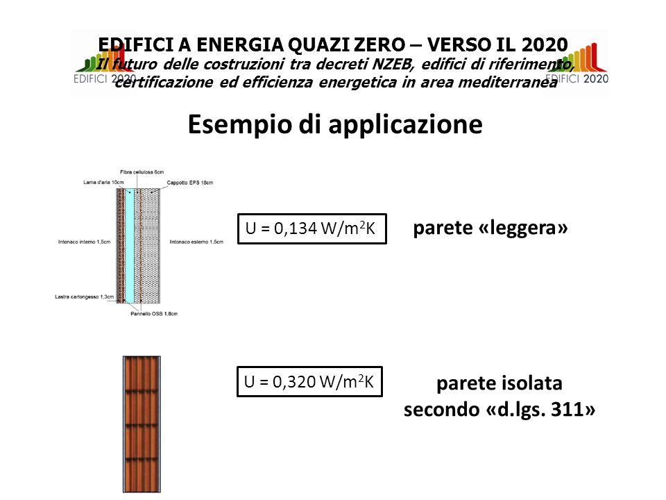 U = 0,320 W/m 2 K parete isolata secondo «d.lgs.