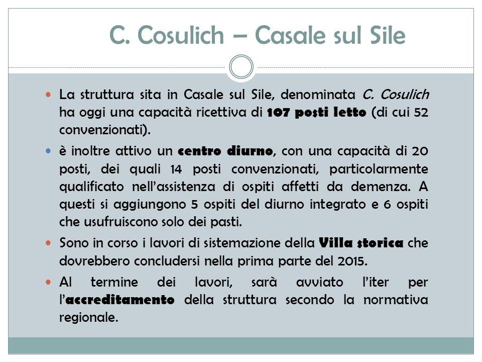 C.Cosulich – Casale sul Sile La struttura sita in Casale sul Sile, denominata C.