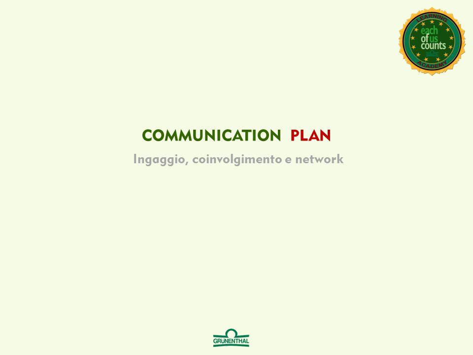COMMUNICATION PLAN Ingaggio, coinvolgimento e network