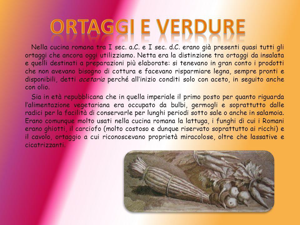 Nella cucina romana tra I sec.a.C. e I sec. d.C.