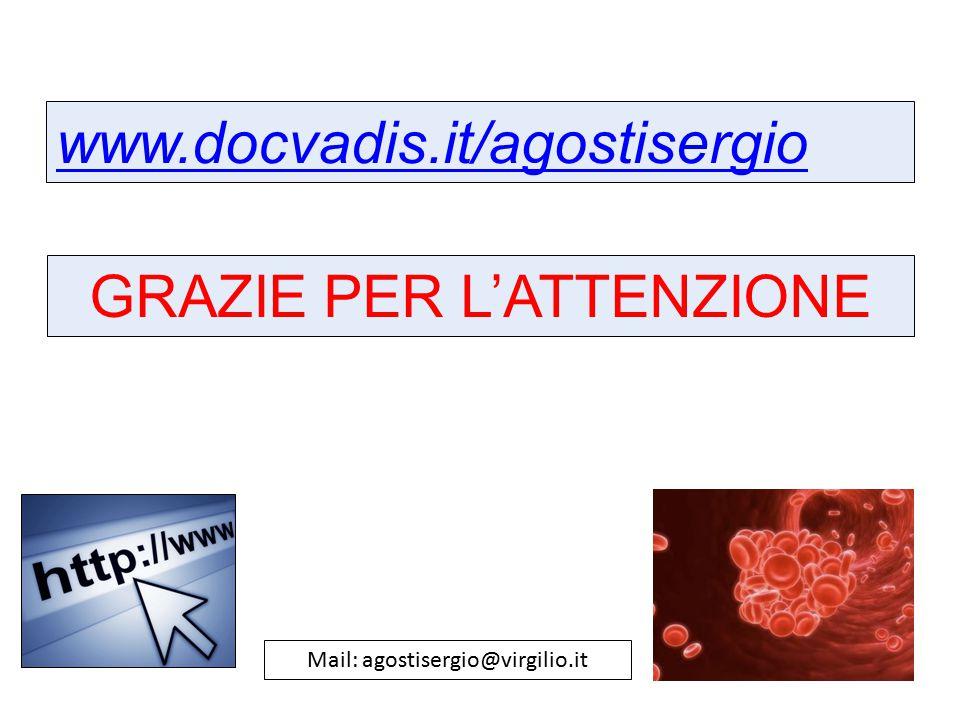 www.docvadis.it/agostisergio GRAZIE PER L'ATTENZIONE Mail: agostisergio@virgilio.it