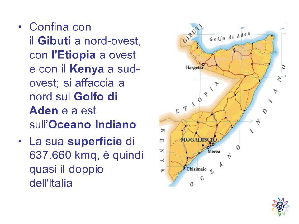 La Somalia è occupata da zone pianeggianti e da altopiani Le montagne si trovano principalmente al nord La parte centro meridionale è attraversata da due grandi fiumi che delimitano la cosiddetta Mesopotamia somala