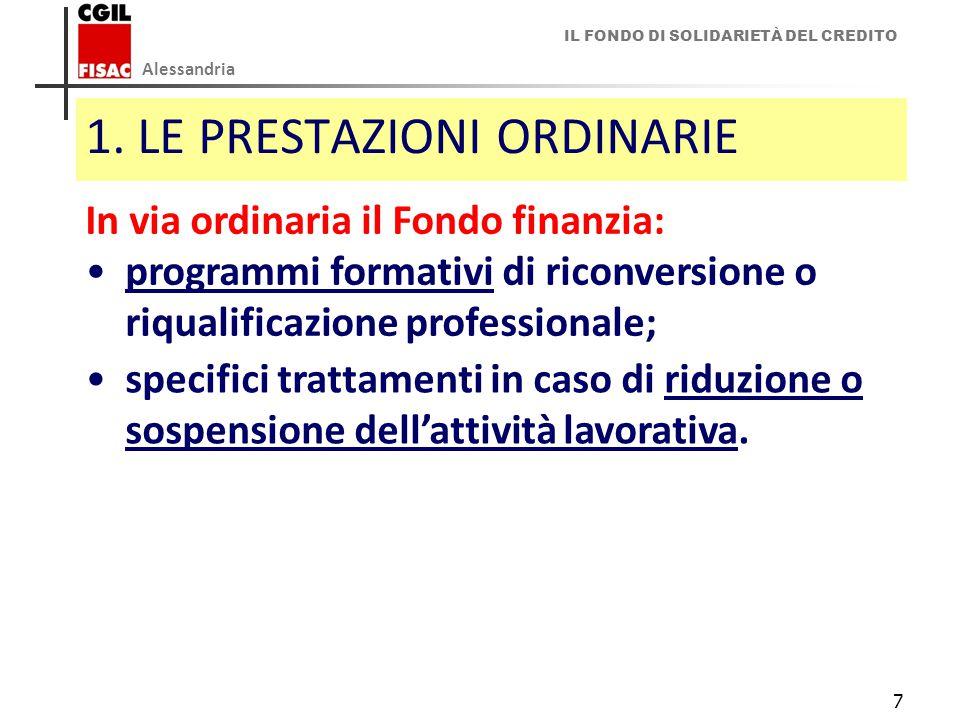 IL FONDO DI SOLIDARIETÀ DEL CREDITO Alessandria 7 1.