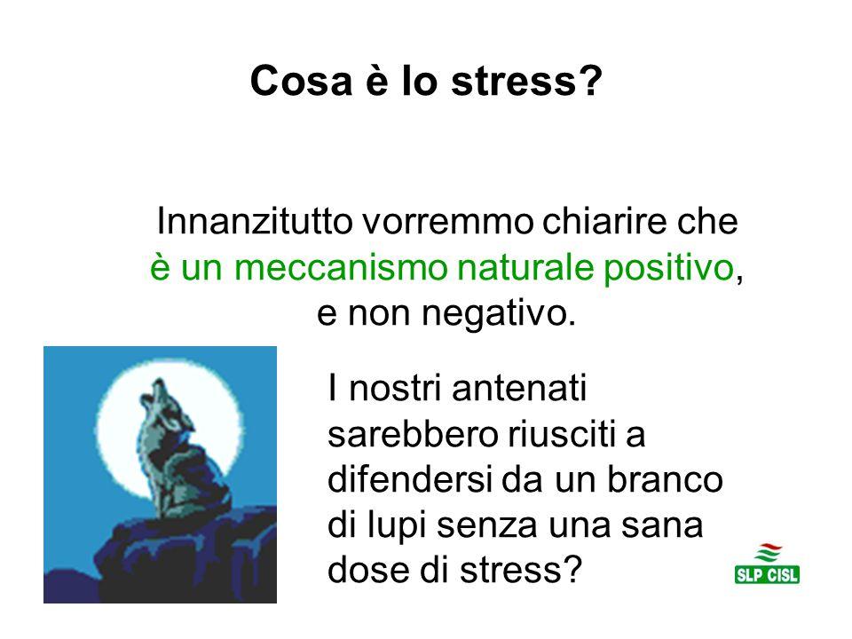 Cosa è lo stress? Innanzitutto vorremmo chiarire che è un meccanismo naturale positivo, e non negativo. I nostri antenati sarebbero riusciti a difende
