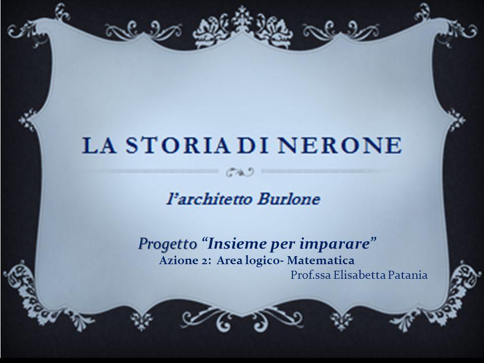 """Progetto Progetto """"Insieme per imparare"""" Azione 2: Area logico- Matematica Prof.ssa Elisabetta Patania"""