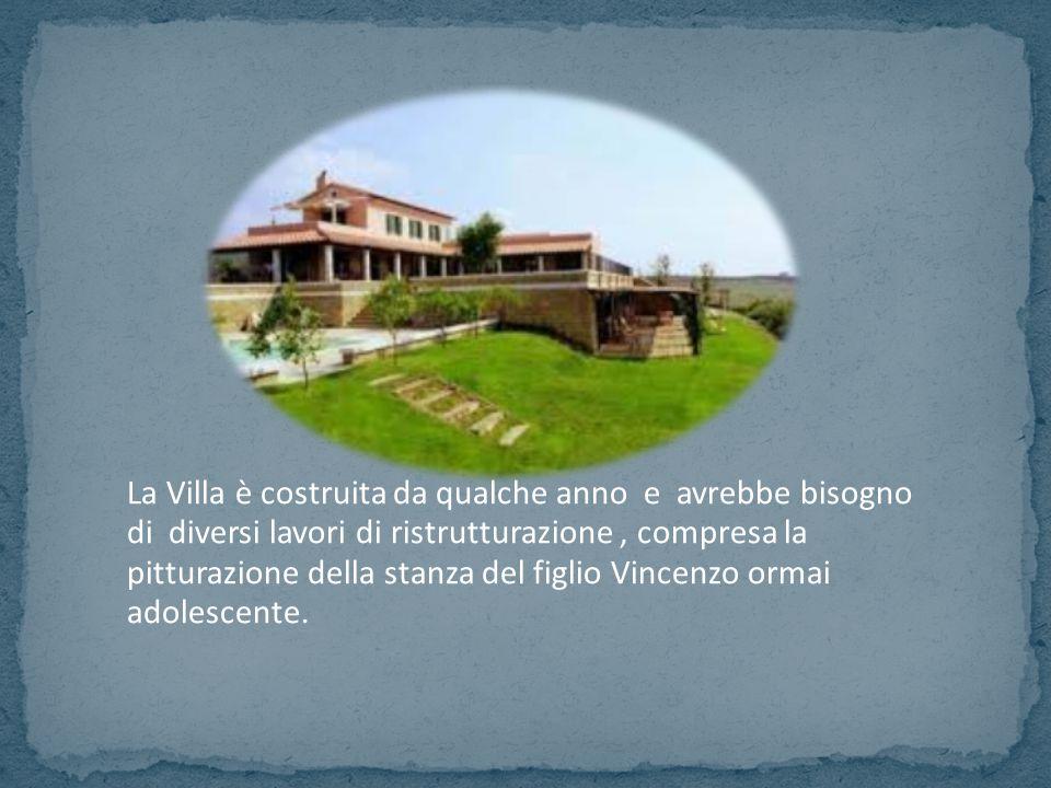 La Villa è costruita da qualche anno e avrebbe bisogno di diversi lavori di ristrutturazione, compresa la pitturazione della stanza del figlio Vincenz