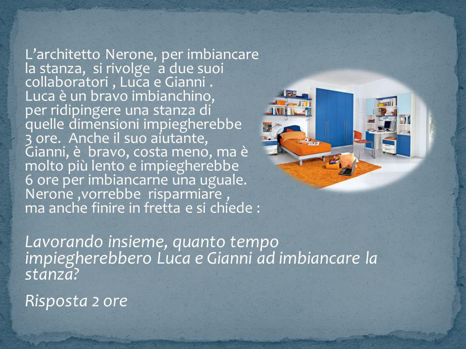 L'architetto Nerone, per imbiancare la stanza, si rivolge a due suoi collaboratori, Luca e Gianni. Luca è un bravo imbianchino, per ridipingere una st
