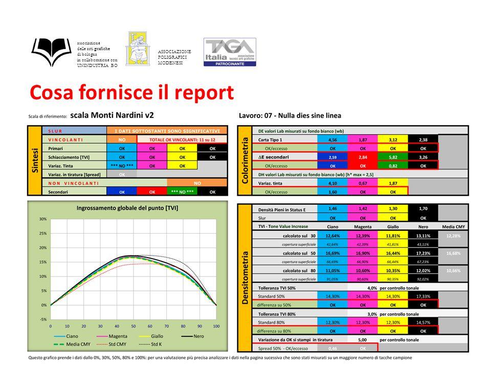 Cosa fornisce il report associazione delle arti grafiche di bologna in collaborazione con UNINDUSTRIA BO ASSOCIAZIONE POLIGRAFICI MODENESI