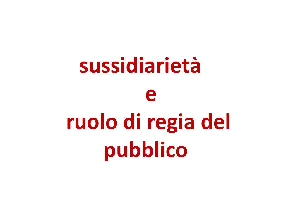 sussidiarietà e ruolo di regia del pubblico