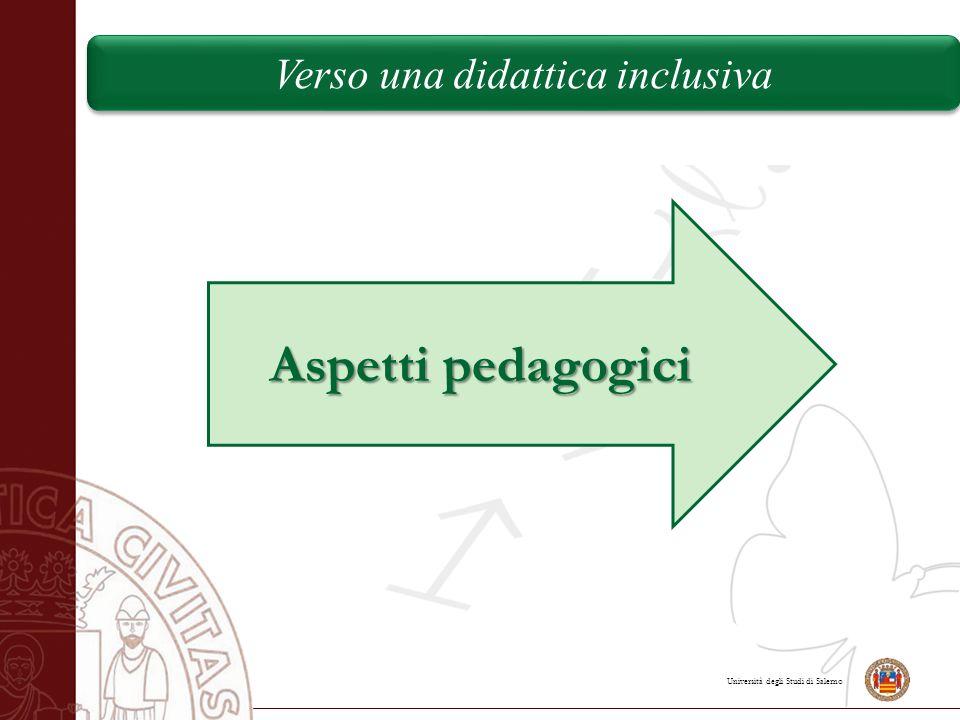 Aspetti pedagogici Verso una didattica inclusiva