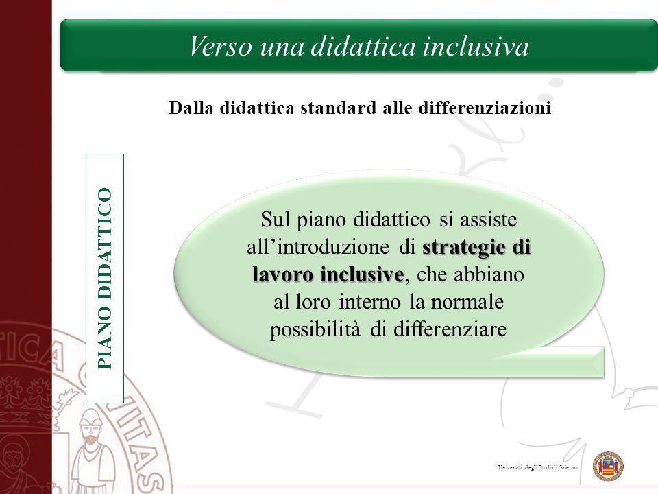 Università degli Studi di Salerno Verso una didattica inclusiva Dalla didattica standard alle differenziazioni PIANO DIDATTICO strategie di lavoro inc