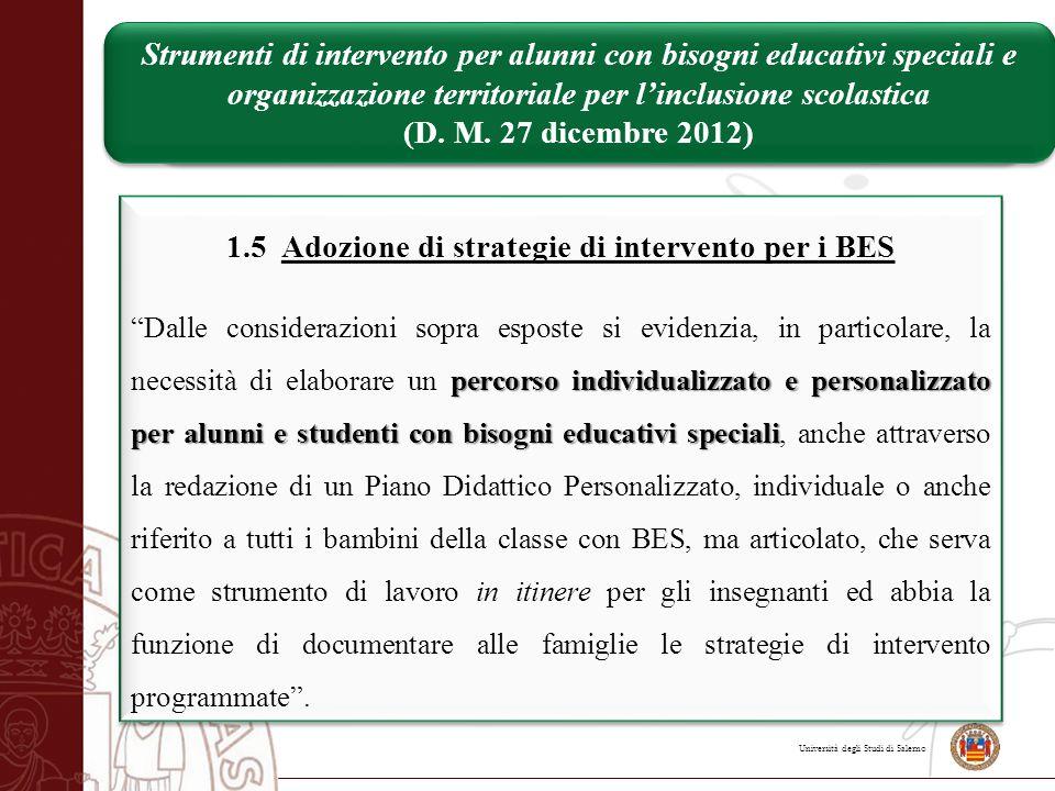 Università degli Studi di Salerno Strumenti di intervento per alunni con bisogni educativi speciali e organizzazione territoriale per l'inclusione sco