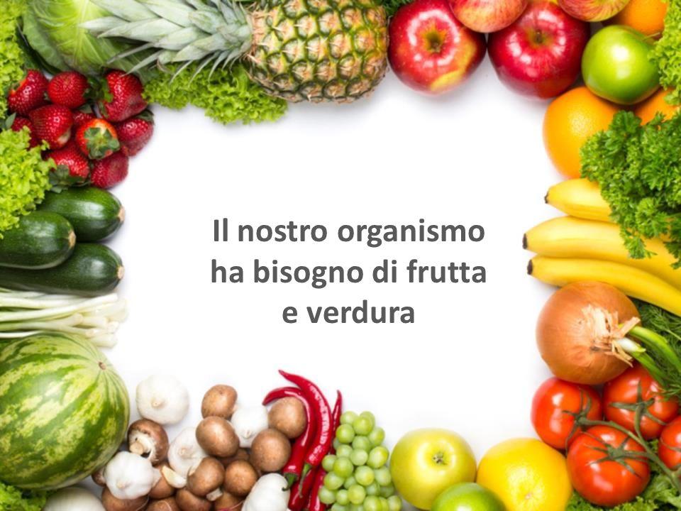 Il nostro organismo ha bisogno di frutta e verdura