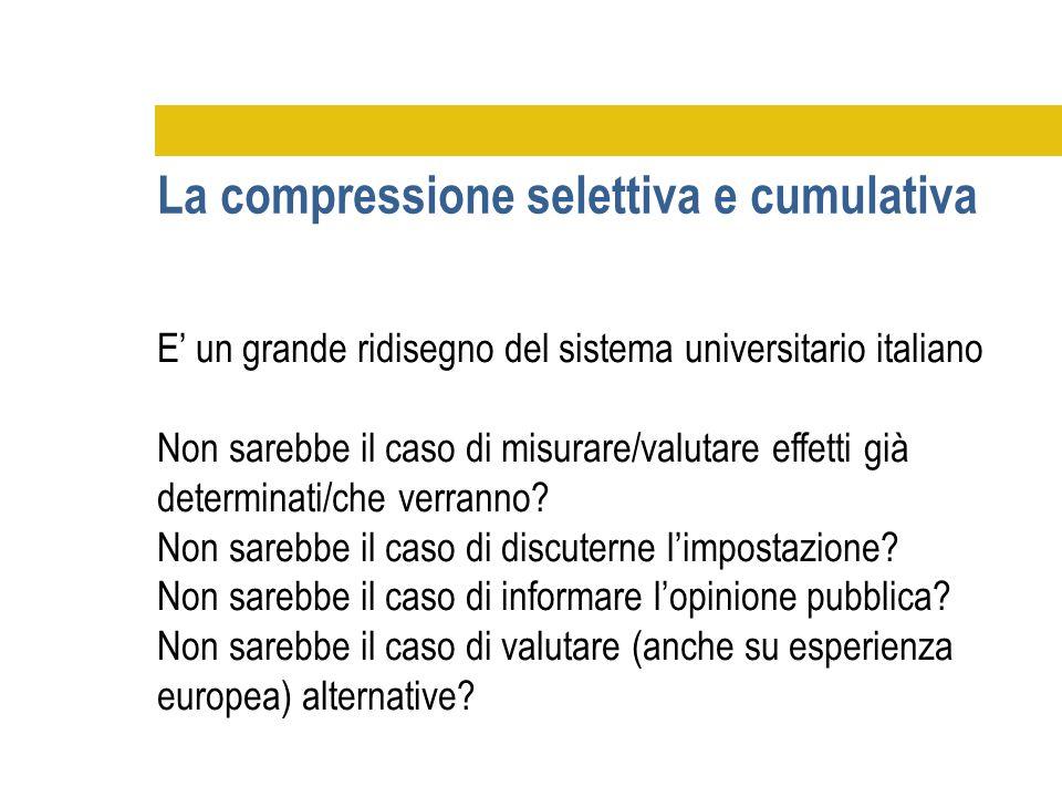 E' un grande ridisegno del sistema universitario italiano Non sarebbe il caso di misurare/valutare effetti già determinati/che verranno? Non sarebbe i