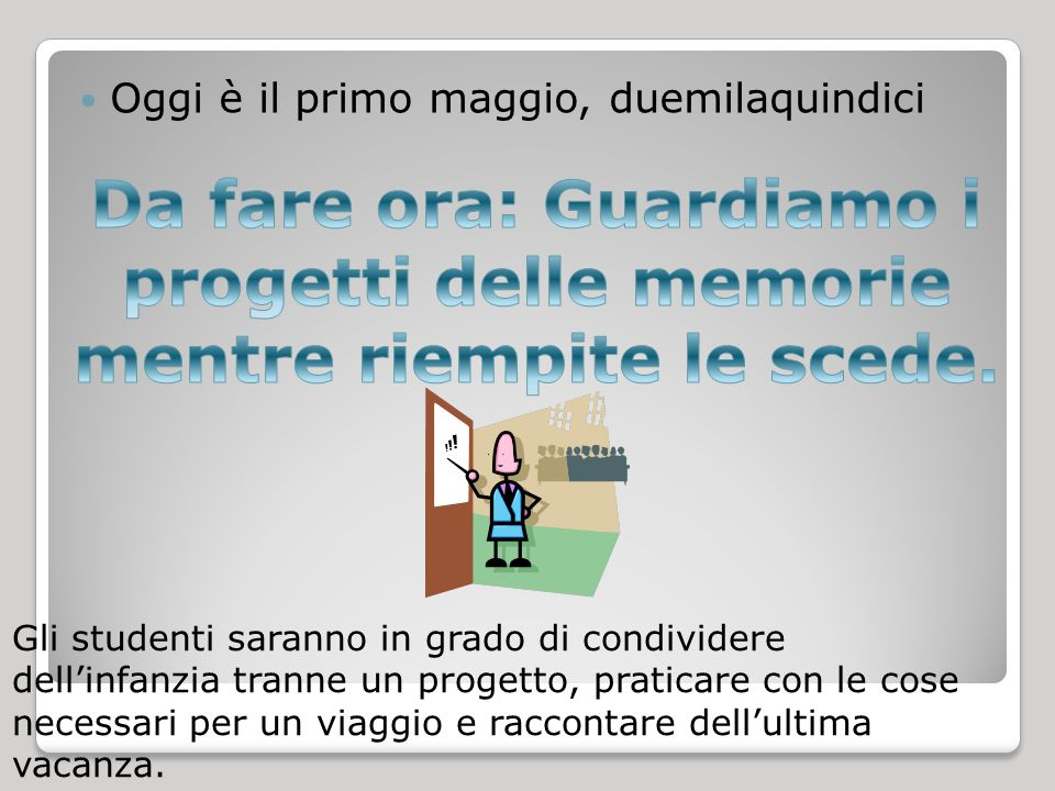 il compito Quiz Friday Travel vocabulary Il viaggio notes (from textbook) Direct object pronouns with one verb and with two verbs  La scheda- tutto.