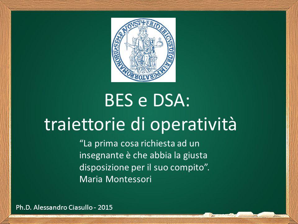 """BES e DSA: traiettorie di operatività """"La prima cosa richiesta ad un insegnante è che abbia la giusta disposizione per il suo compito"""". Maria Montesso"""