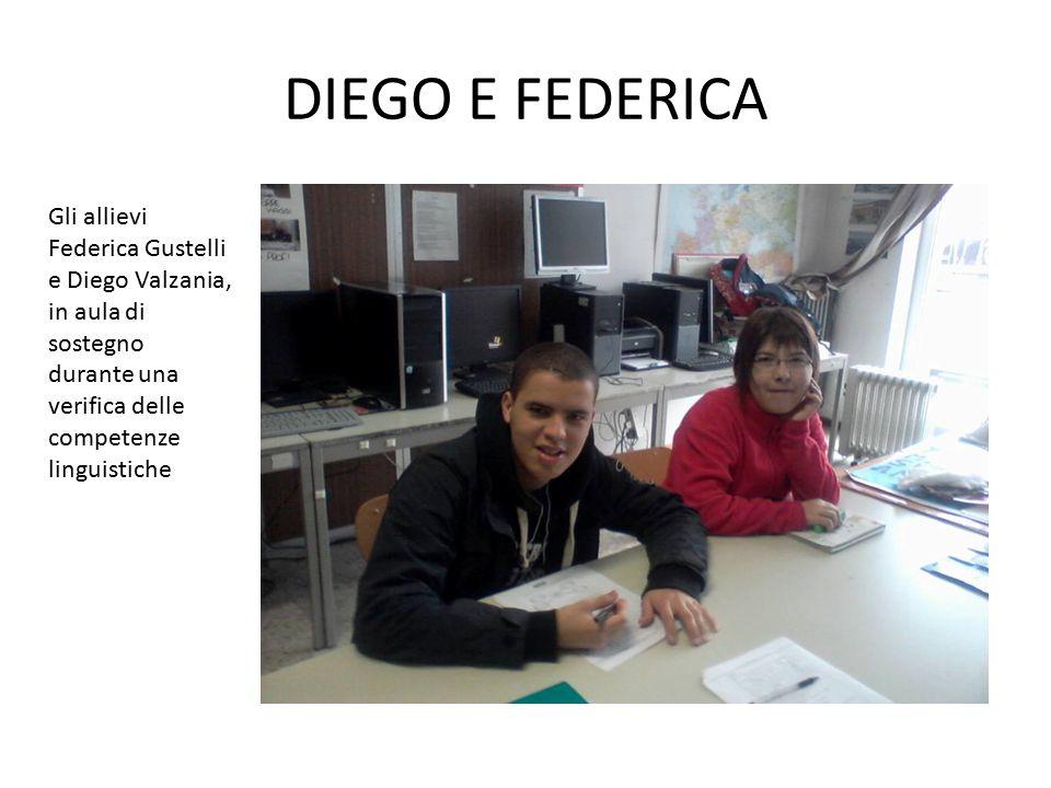DIEGO E FEDERICA Gli alunni Diego Valzania e Federica Guastelli hanno lavorato insieme supportandosi nello studio delle lingue, utilizzando il metodo