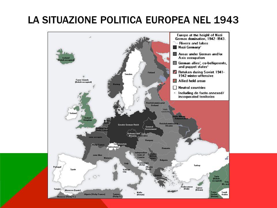 LA SITUAZIONE POLITICA EUROPEA NEL 1943