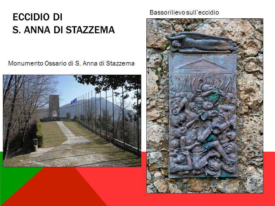 ECCIDIO DI S. ANNA DI STAZZEMA Monumento Ossario di S. Anna di Stazzema Bassorilievo sull'eccidio