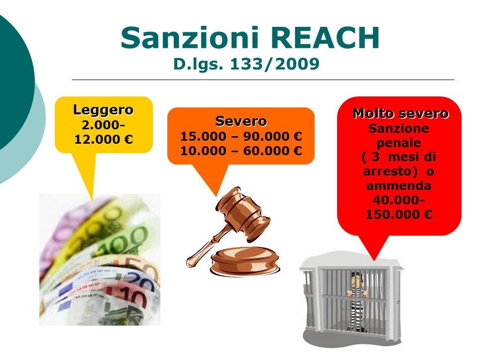 Sanzioni REACH D.lgs.